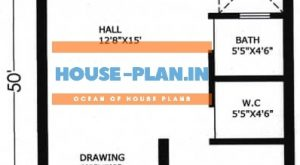 20×50 west facing small house plan