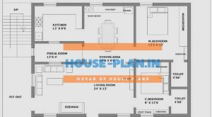 2bhk house plan 36×25