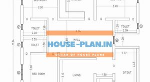 3 bedroom house plan 37×36