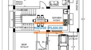 30×40 ground floor house plan west facing