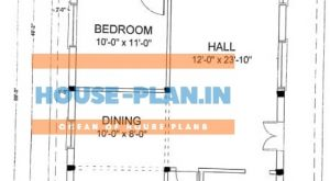 30×62 house plan west facing