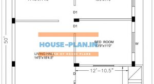 32×50 house plan east facing ground floor