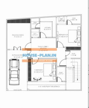 34 by 50 house plan with car parking