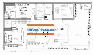65×24 south facing house plan with car parking