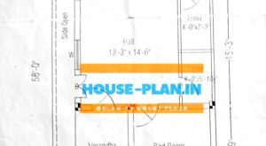 east facing house vastu plan 21×58