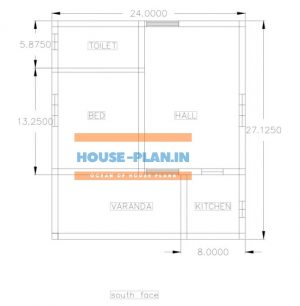 floor plan of house 24×27