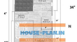 house plan 19×34 ground floor