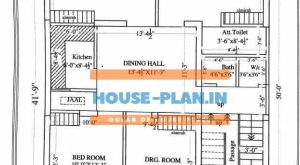 house plan 30×41 ground floor