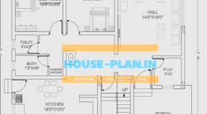 house plan 38×39 ground floor