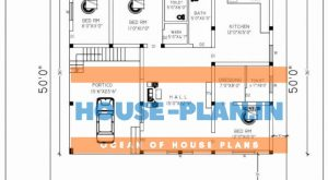 house plan 52×50 ground floor