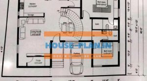 house plan 55×40 ground floor