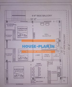 house plan design 32×45