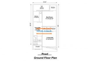 house plan drawing 19×35 ground floor