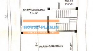 modern house plan 32×54 ground floor