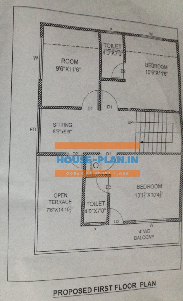 north face house plan 4bhk first floor