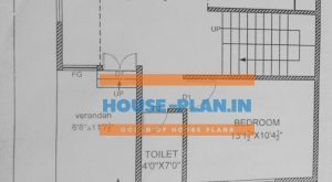 North face house plan 4bhk 24×24