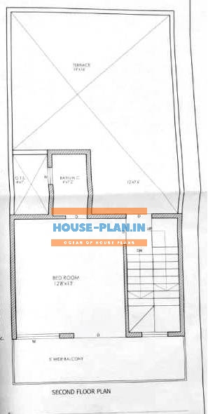 plan of house 20×48 second floor 1
