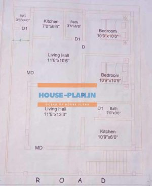 single floor house plan 21×29