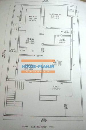 single floor house plan 31×49