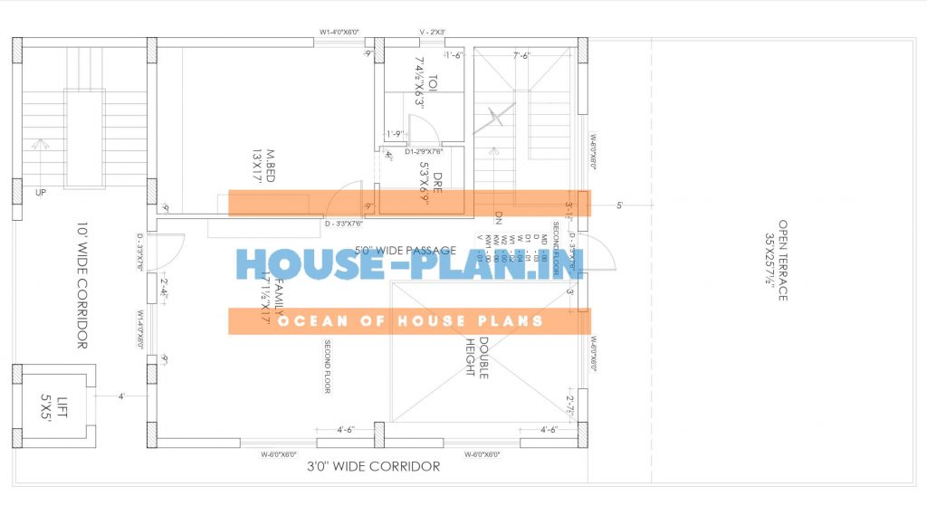 south facing house plan samples second floor