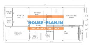 2 bedroom house plan indian style