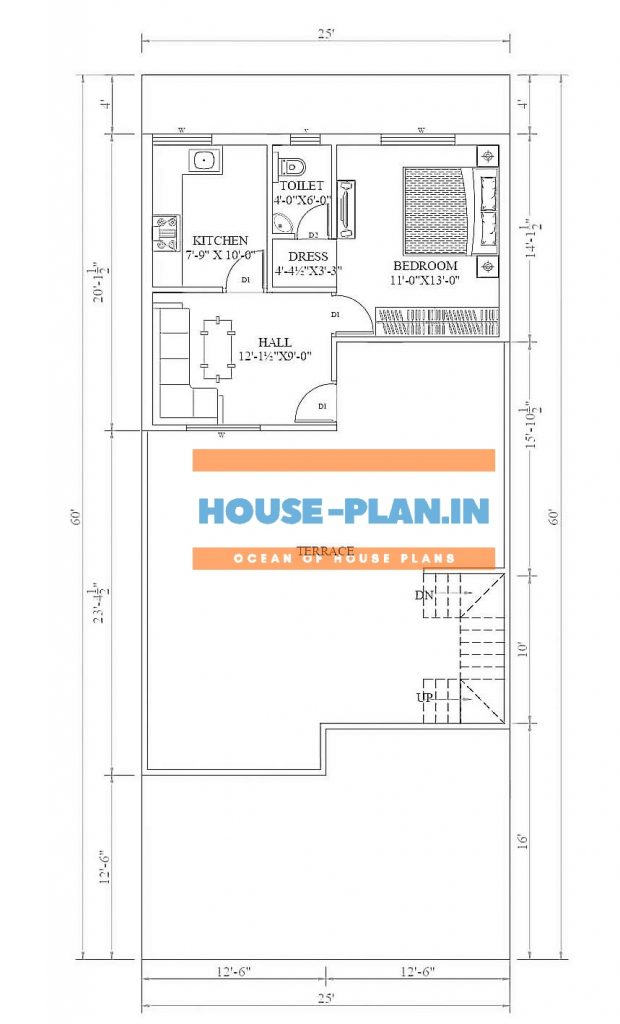 3 bhk house plan in 1500 sq ft 2