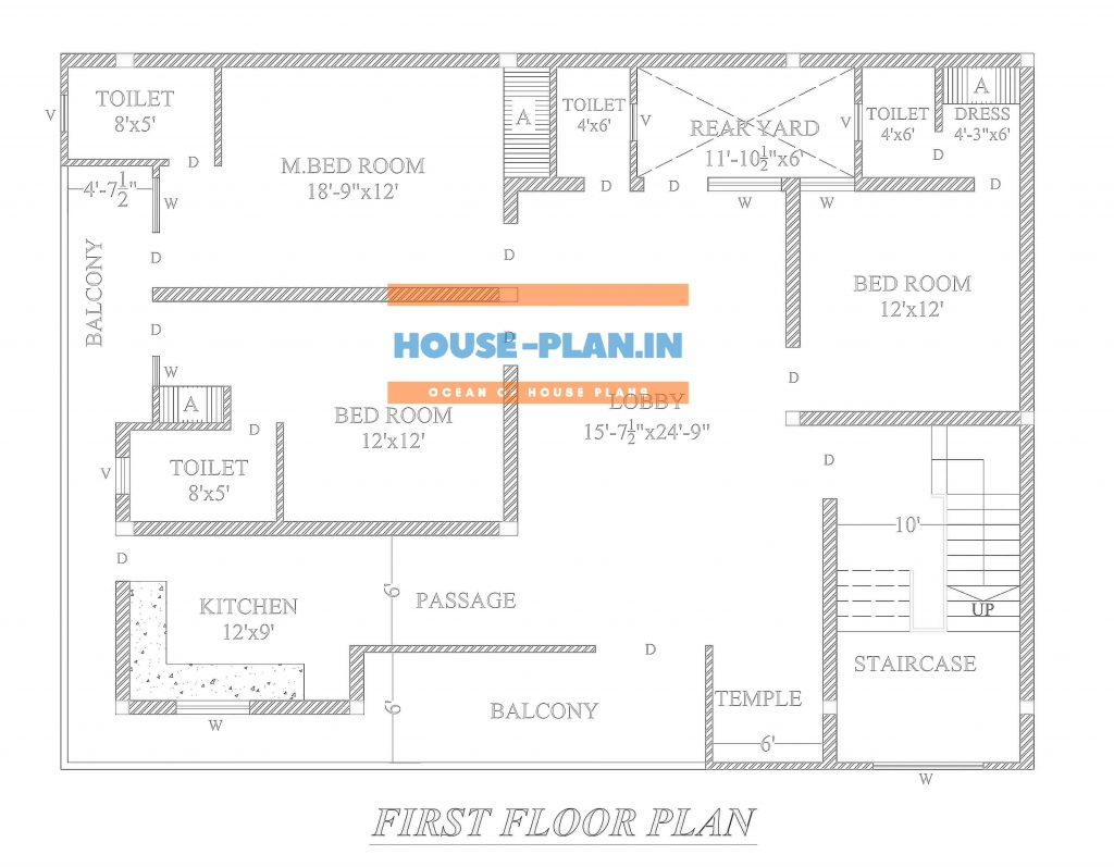 4 bedroom house plan indian style 2