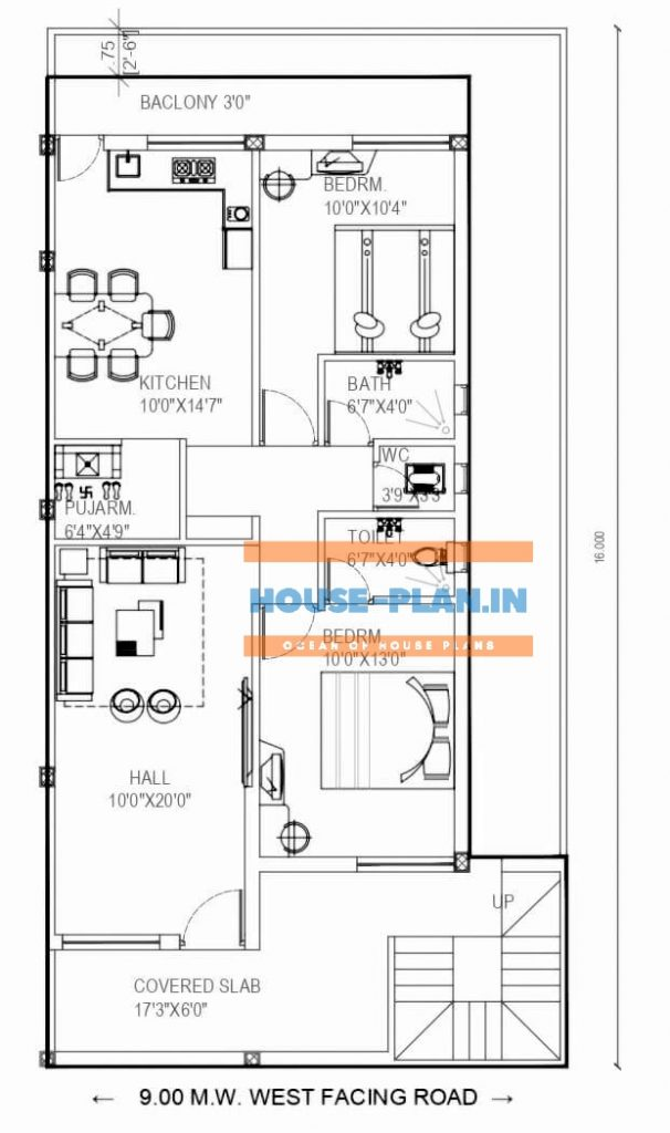 four bedroom house plan 2