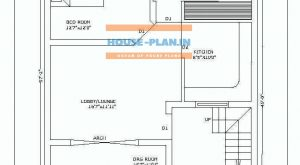 house plan design india with porch ,drawing room , lobby , 2 bedroom and kitchen , two toilet only ground floor house plan