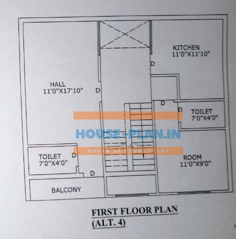 simple house plan with 3 bedrooms 2