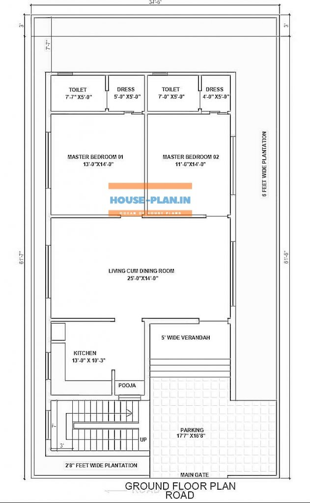 two room house plan