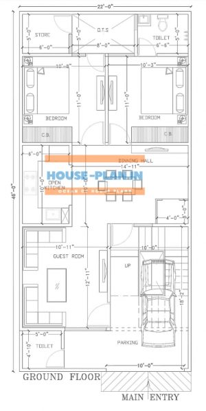 1000 sq feet house plan