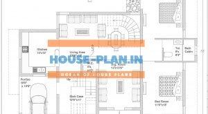 2 room house plan