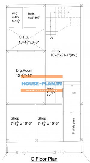 800 square feet house plan