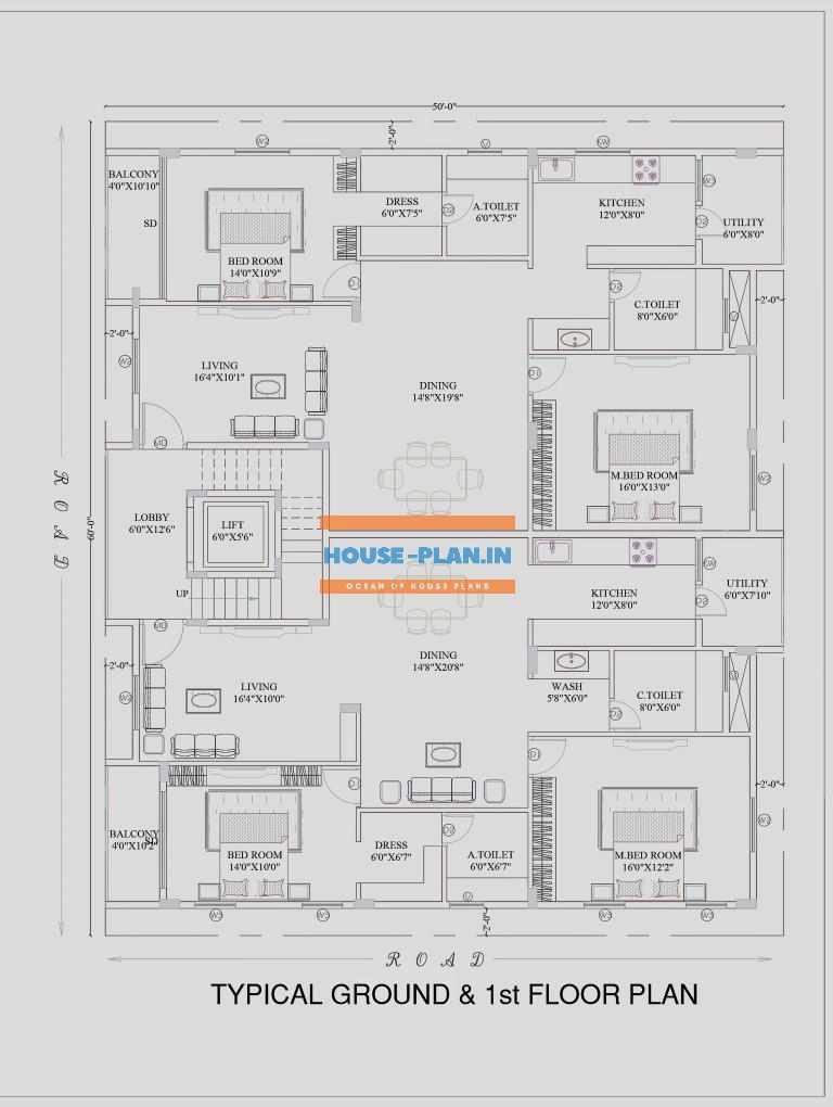Bungalow First floor House Plan 1