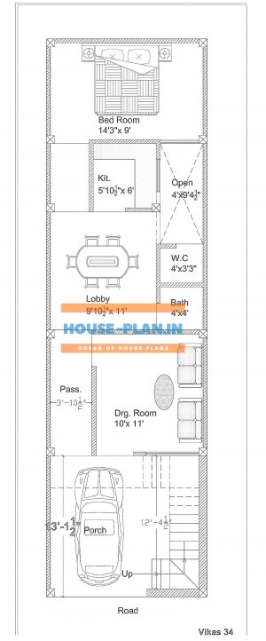 Single floor house plan