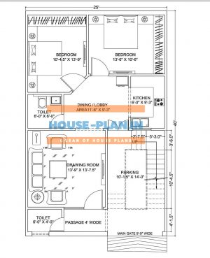 double bedroom house plan
